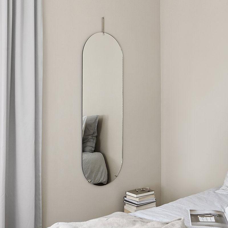 Tall Wall Mirror(トールウォールミラー)W44×H147cm クローム 壁掛けミラー MOEBE(ムーベ) デンマーク
