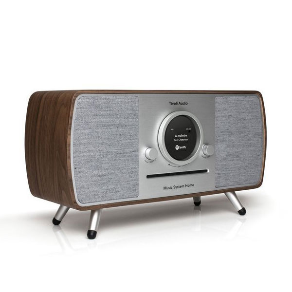 Music System Home(ミュージックシステム ホーム)スマートHi-Fiシステム ウォールナット×シルバー/ラジオ/Tivoli Audio(チボリオーディオ)