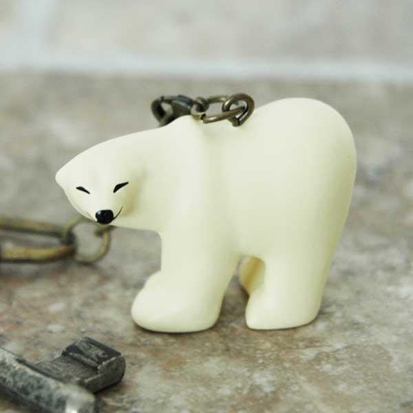 リサラーソンキーホルダー Polar Bear(ポーラベア)しろくま Lisa Larson