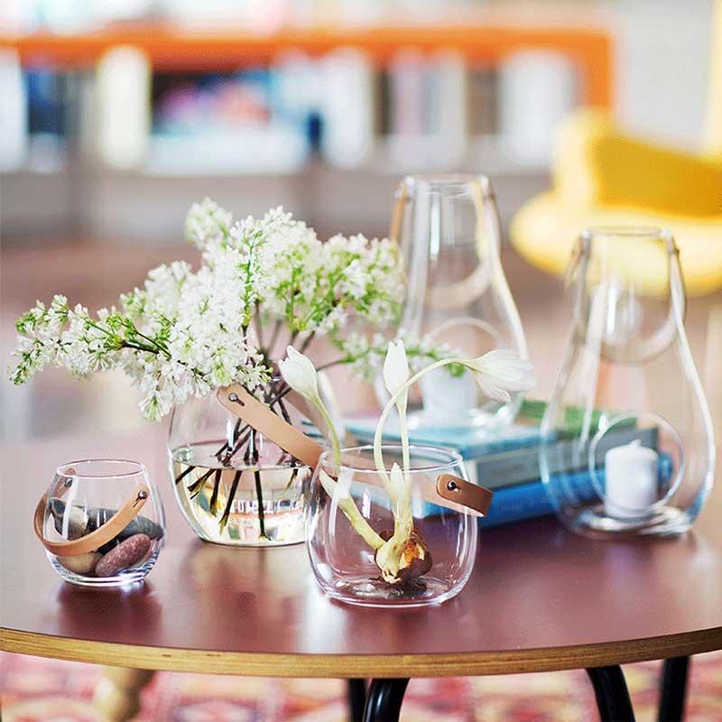 DESIGN WITH LIGHT JAR(デザインウィズライト)ガラスポットH=16cm フラワーベース HOLMEGAARD(ホルムガード)