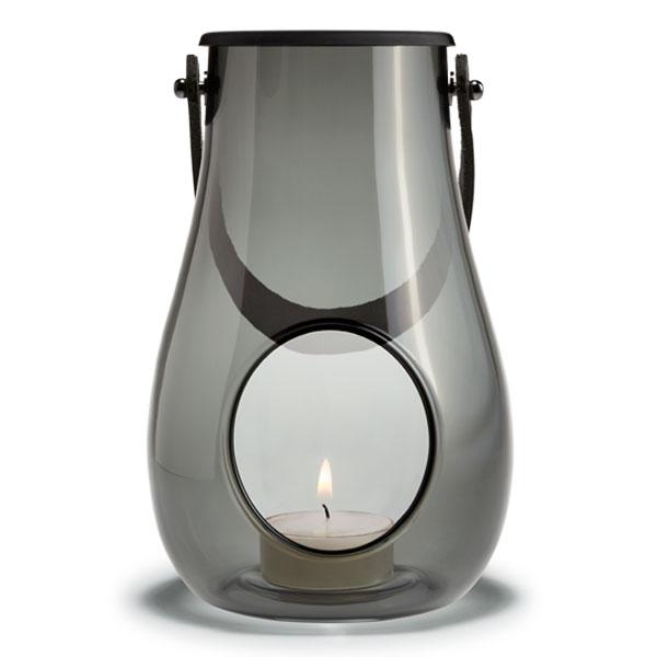 DESIGN WITH LIGHT LANTARM(デザインウィズライト)ランタン スモーク H=16cm HOLMEGAARD(ホルムガード)