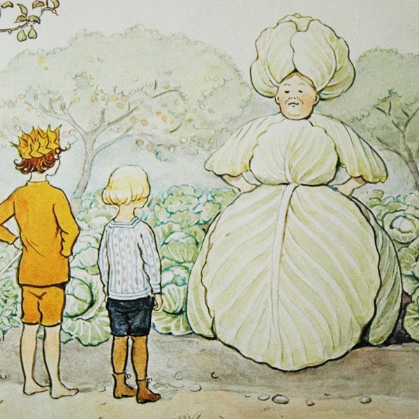 エルサべスコフ・キッチンタオル45×65cmMrs Cabbage(キャベツ婦人)DESIGN HOUSE stockholm(デザインハウス ストックホルム)
