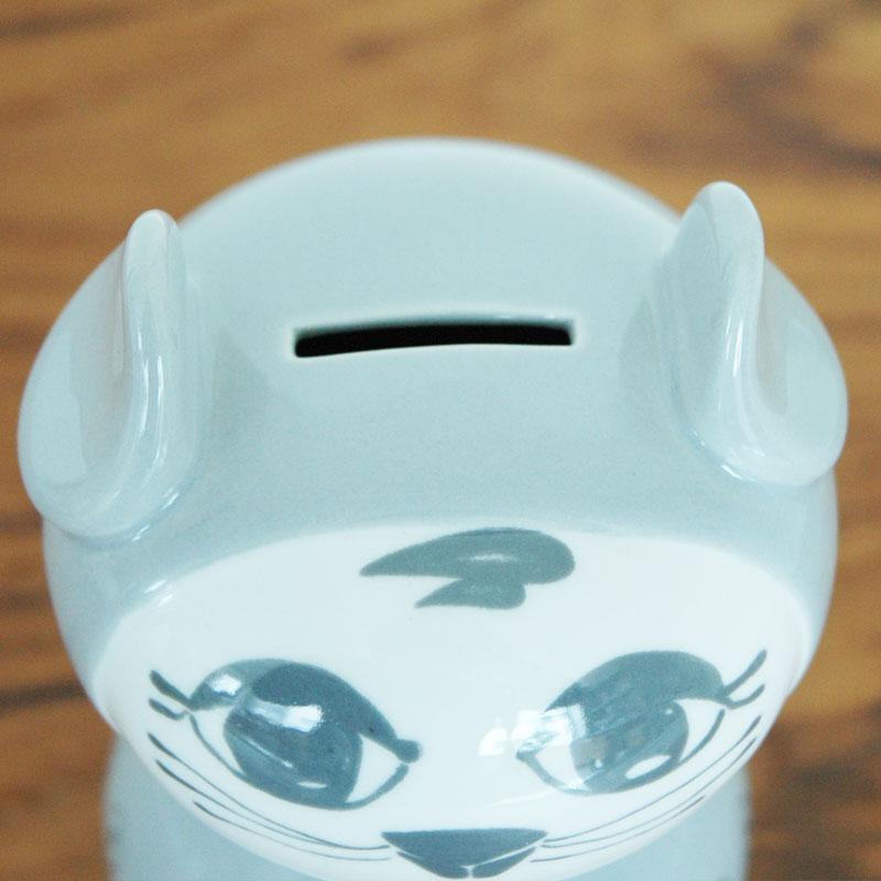 ビヨン・ヴィンブラッド Bjorn Wiinblad Miranda(ミランダ)Money cat(マネーキャット)貯金箱 北欧デンマーク 54419