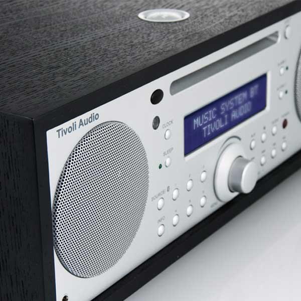Music System BT(ミュージックシステム ビーティー)Bluetooth対応モデル/ブラック×シルバー/ラジオ/Tivoli Audio(チボリオーディオ)