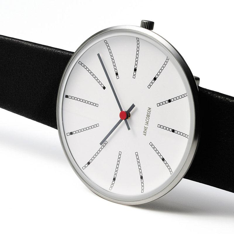 アルネヤコブセン 腕時計・Bankersバンカーズ レザーストラップ 30mm/34mm/40mm ARNE JACOBSEN WATCHS