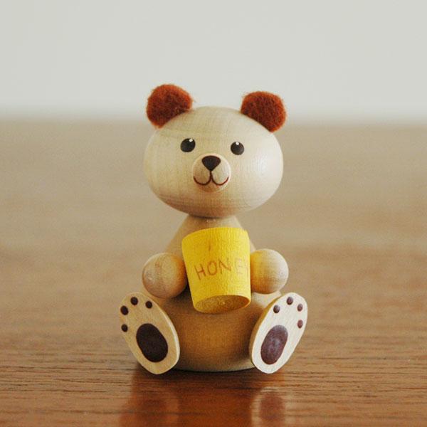 Bear(ベア)クマ/エストニア・ハンドメイド・木製オブジェ