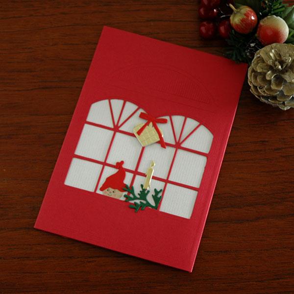 クリスマスカード/窓辺のNisse(ニッセ)/Oda Wiedbrecht(オダ・ウィードブレクト)北欧デンマーク