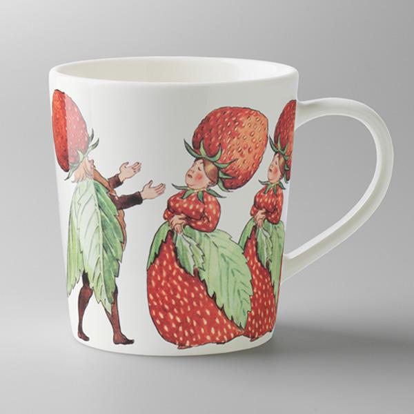 エルサべスコフ・マグカップThe Strawberry family(ストロベリーファミリー)・DESIGN HOUSE stockholm(デザインハウス ストックホルム)