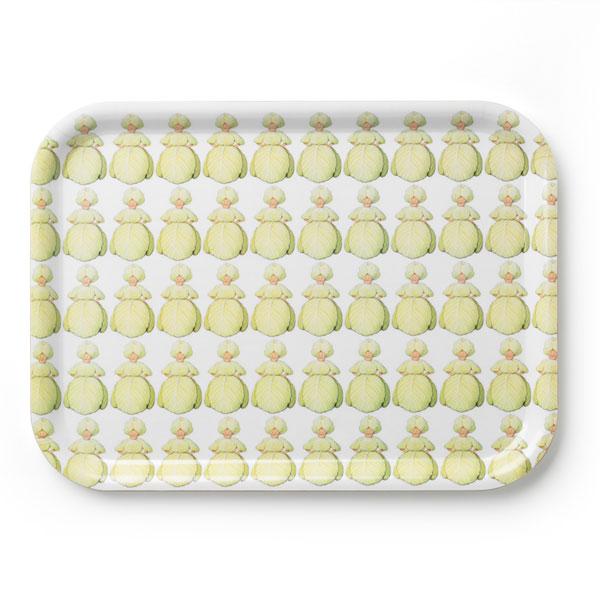 エルサべスコフ・トレイ20×27cm/Mrs Cabbage(キャベツ婦人)・DESIGN HOUSE stockholm(デザインハウス ストックホルム)