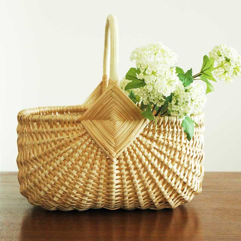 RIGA BASKET(リガバスケット)マッシュルーム スモールサイズ カゴ・持ち手付 柳(ヤナギ) ラトビア製 ハンドメイド