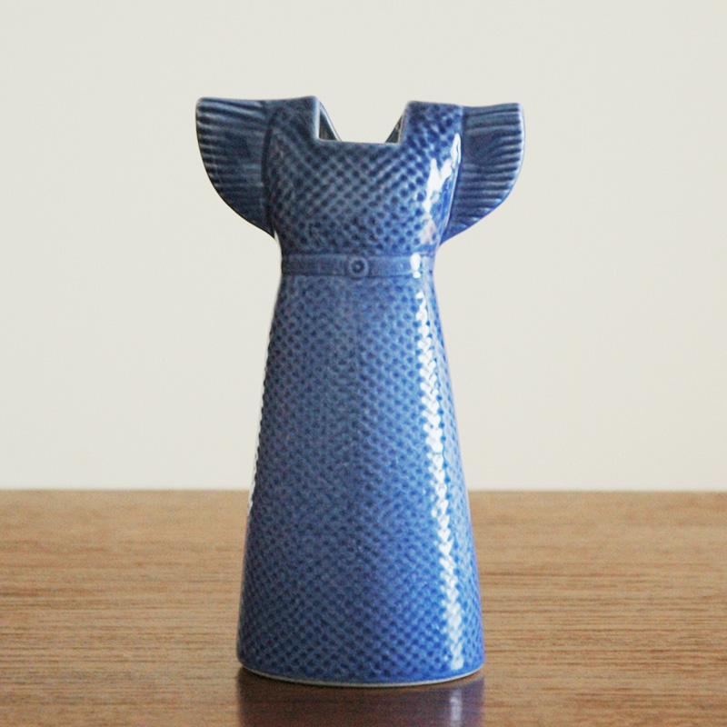 Wardrobe Vases Dress(ワードローブ・ドレス)ディープブルー/Lisa Larson(リサラーソン)/フラワーベース・オブジェ