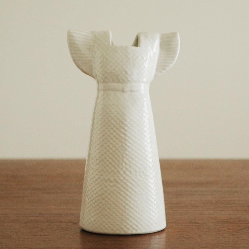 Wardrobe Vases Dress(ワードローブ・ドレス)ホワイト/Lisa Larson(リサラーソン)/フラワーベース・オブジェ