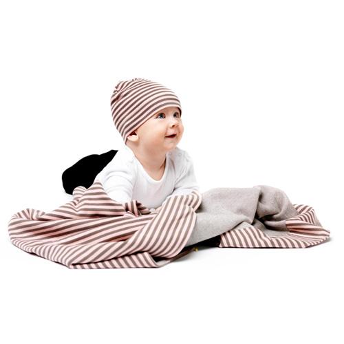 コットンストライプ・キッズコレクション・ひざ掛け&帽子/ピンク/デザインハウス ストックホルム