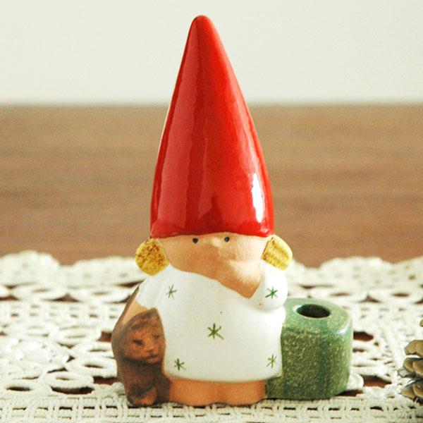 Santa Girl with Cat(サンタガールウィズキャット)トムテファミリー Lisa Larson(リサ ラーソン) 北欧オブジェ・置物
