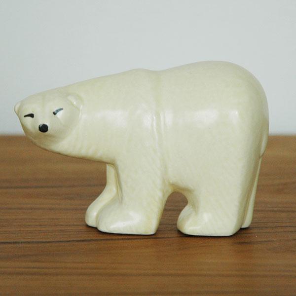 Polar Bear(シロクマ)・ミニサイズ/SKANSENシリーズ/Lisa Larson(リサ ラーソン)/北欧オブジェ・置物