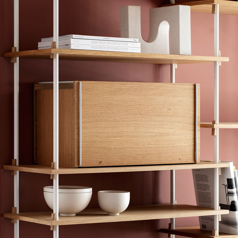 Storage Box(ストレージボックス)ホワイト W60xD31xH33cm MOEBE(ムーベ) デンマーク 収納ボックス