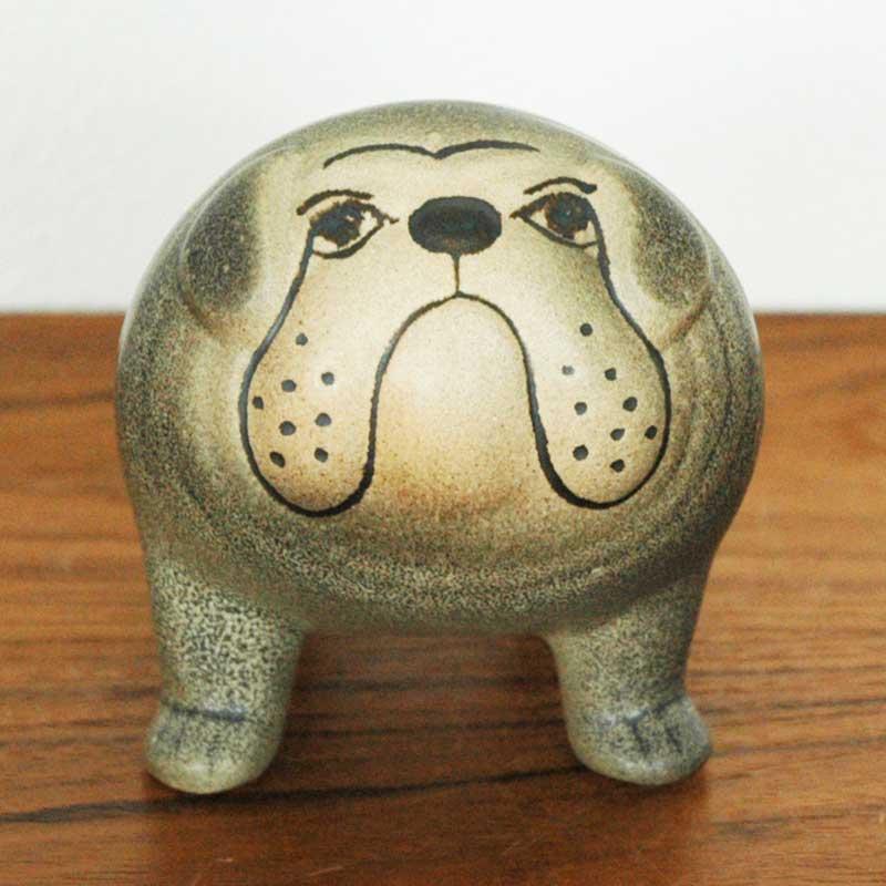 Bulldog(ブルドッグ)ミディアムサイズ グレー オブジェ Lisa Larson(リサ ラーソン) 北欧オブジェ・置物