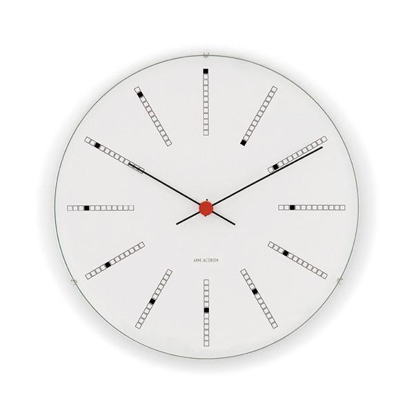 アルネヤコブセン・掛け時計・Bankersバンカーズ 16cm ARNE JACOBSEN WallClock ROSENDAHL COPENHAGEN (ローゼンダール社 コペンハーゲン)