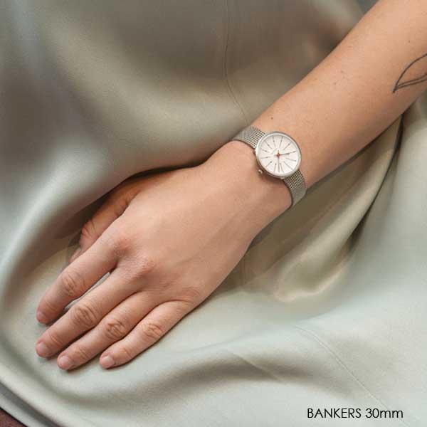 アルネヤコブセン 腕時計・Bankersバンカーズ シルバーメッシュストラップ 30mm/34mm/40mm ARNE JACOBSEN WATCHS