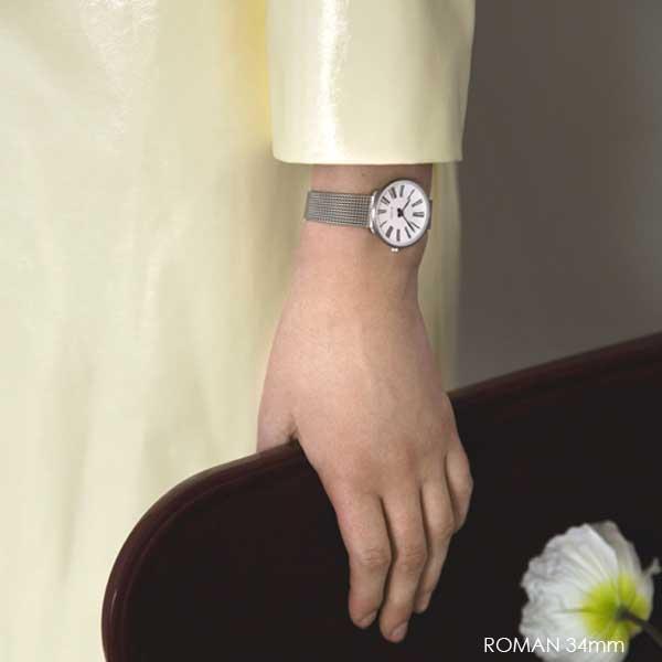 アルネヤコブセン・腕時計 ROMANローマン 30mm/34mm/40mm シルバーメッシュストラップ ARNE JACOBSEN Watchs