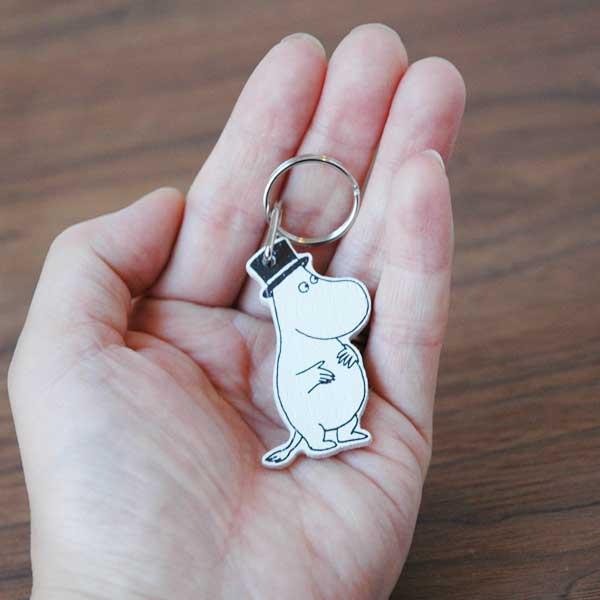 ムーミンパパ・白樺製キーリング APRILMAI(アプリルマイ) MOOMIN WOODEN KEYRING ムーミングッズ