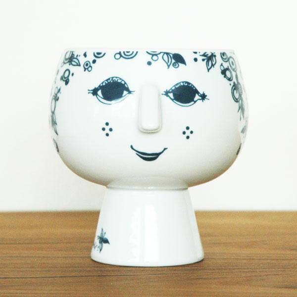 ビヨン・ヴィンブラッド Bjorn Wiinblad Flower Pot with foot(フラワーポットウィズフット)Juliane pot H14cm  北欧デンマーク 55025