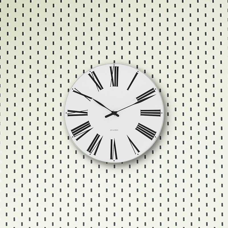 アルネヤコブセン・掛け時計 ROMANローマン 29cm ARNE JACOBSEN WallClock ROSENDAHL COPENHAGEN (ローゼンダール社 コペンハーゲン)