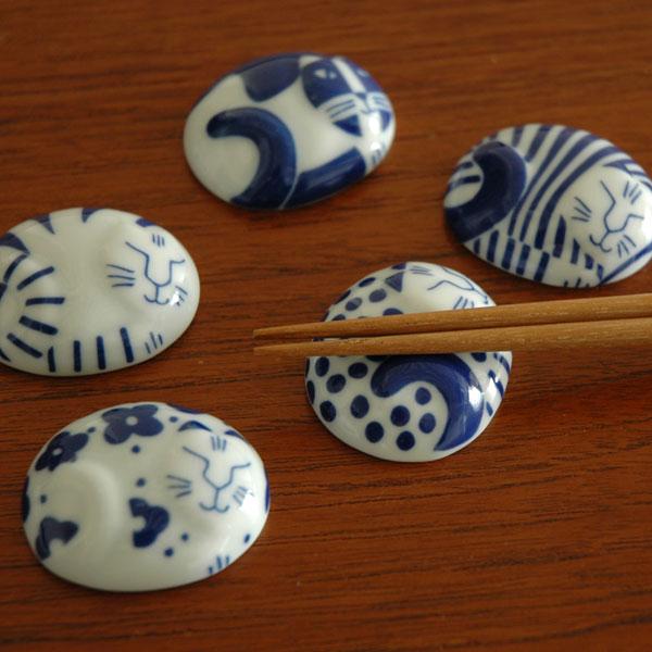 Lisa Larson(リサ・ラーソン)ごのねこ箸置き5個セット/有田焼/JAPAN Series(ジャパンシリーズ)