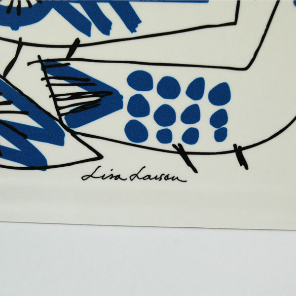 「RETRO BIRD(レトロ・バード)」Mサイズ/木製トレイ/Lisa Larson(リサラーソン)/opto design