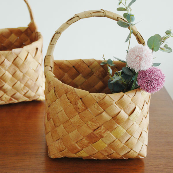 白樺バスケット・カゴWall Basket(ウォールバスケット)Sサイズ・北欧フィンランド製/Nadia shop(ナディアショップ)