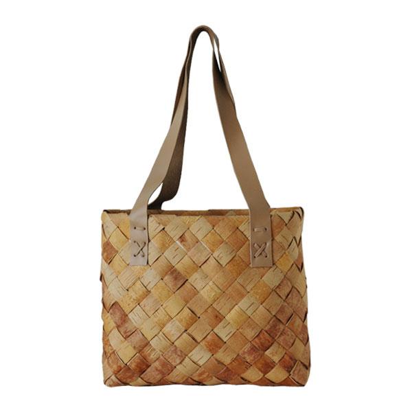 Shopping bag(ショッピングバッグ)Sサイズ・トートバッグ・白樺バスケット・北欧フィンランド製/Nadja shop(ナディアショップ)