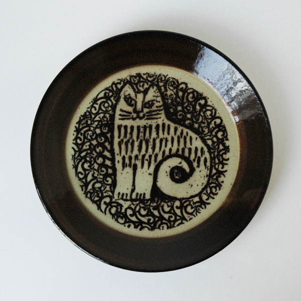 益子の皿 NINA 茶 5.5寸皿 Japan Seriesジャパンシリーズ 益子焼 Lisa Larson(リサ・ラーソン)