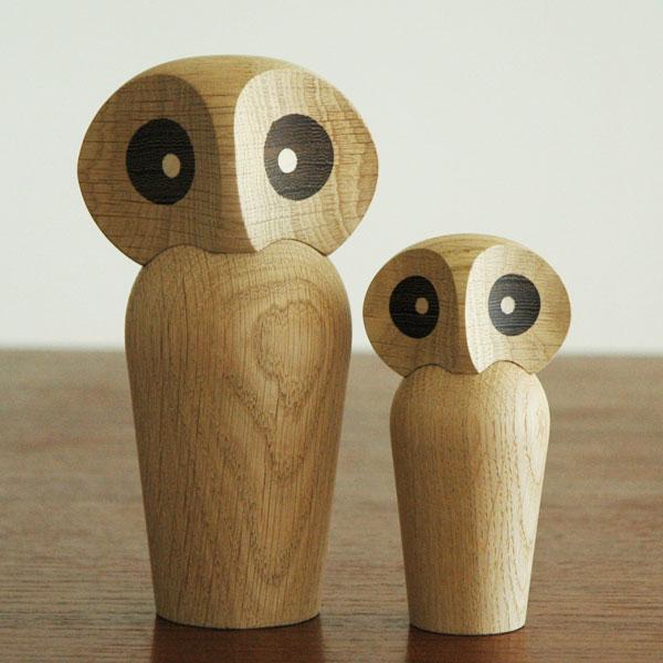 Owl(アウル)フクロウ・スモールサイズ ARCHITECTMADE(アーキテクメイド) デンマーク 北欧木製オブジェ・置物 460