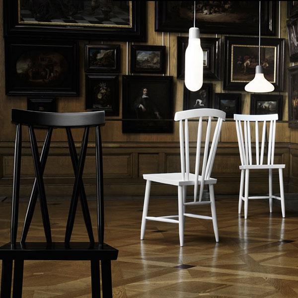 Family Chairブラック「4」/DESIGN HOUSE stockholm(デザインハウスストックホルム)