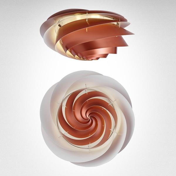 LE KLINT(レ・クリント)Swirl Ceiling Copper(スワール・シーリング・コッパー)/スモールサイズ/北欧シーリングライト