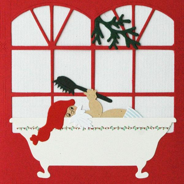 クリスマスカード/サンタさんのバスタイム/Oda Wiedbrecht(オダ・ウィードブレクト)北欧デンマーク