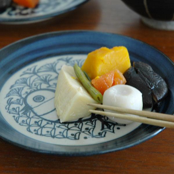 益子の皿・とり・青/5.5寸皿/Japan Seriesジャパンシリーズ・益子焼/Lisa Larson(リサ・ラーソン)