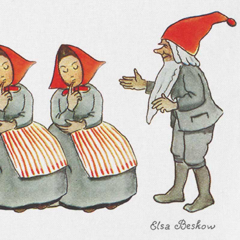 エルサべスコフ・キッチンタオル45×65cm/Elf Family(エルフ・ファミリー)DESIGN HOUSE stockholm(デザインハウス ストックホルム)