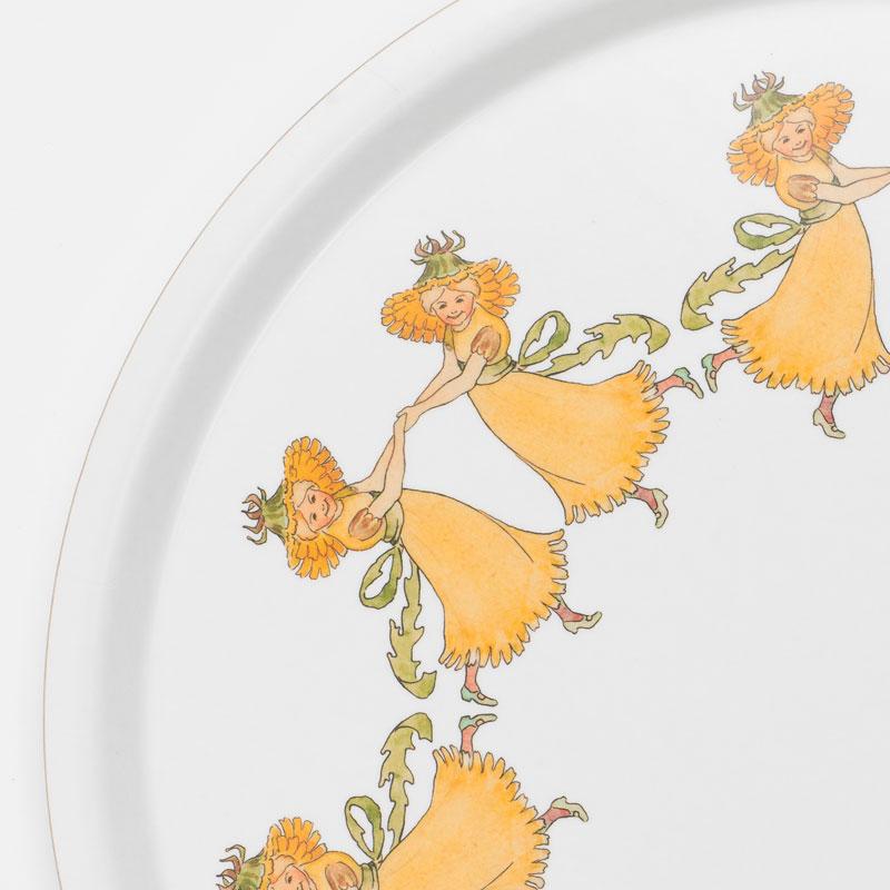 【販売終了】エルサべスコフ・ラウンドトレイ丸型35cm Dandelion(たんぽぽ)DESIGN HOUSE stockholm(デザインハウス ストックホルム)