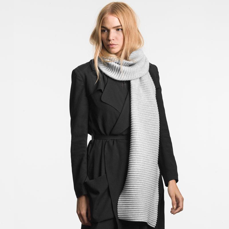【予約11月中旬予定】Pleece Long scarf(プリース・ロングスカーフ)ライトグレー DESIGN HOUSE stockholmデザインハウス・ストックホルム