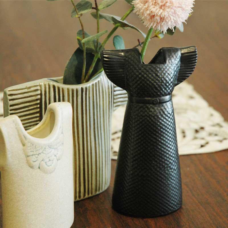Wardrobe Vases Dress(ワードローブ・ドレス)ブラック Lisa Larson(リサラーソン) フラワーベース オブジェ