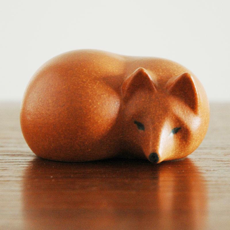 FOX(キツネ)ミニサイズSKANSEN(スカンセン動物園)シリーズ Lisa Larson(リサ ラーソン)オブジェ・置物