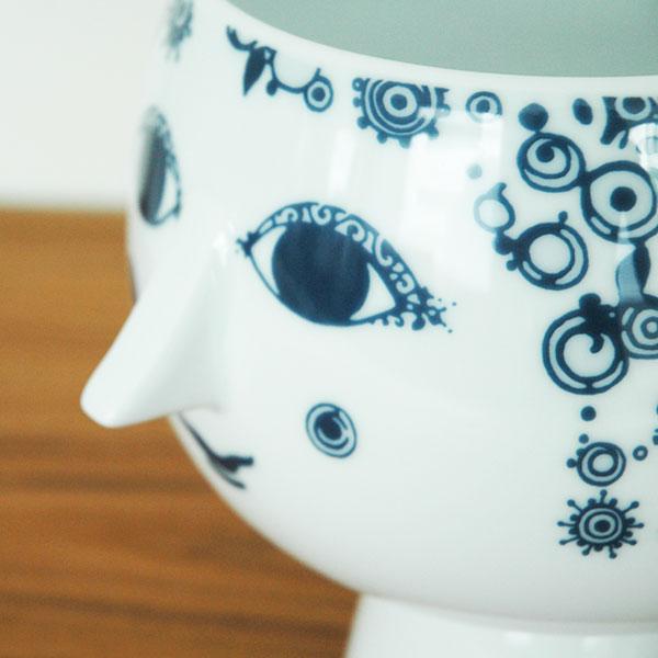 ビヨン・ヴィンブラッド Bjorn Wiinblad Flower Pot with foot(フラワーポットウィズフット)ブルーJuliane pot H20cm  北欧デンマーク 55035