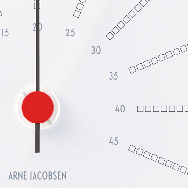 アルネヤコブセン・温度計 Bankersバンカーズ 12cm ARNE JACOBSEN Thermometer ROSENDAHL COPENHAGEN (ローゼンダール社 コペンハーゲン)