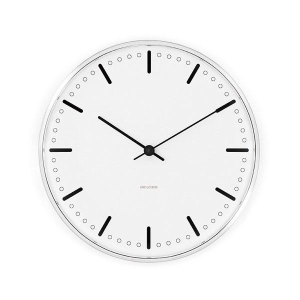 アルネヤコブセン・掛け時計 CityHall シティーホール 29cm ARNE JACOBSEN WallClock ROSENDAHL COPENHAGEN (ローゼンダール社 コペンハーゲン)