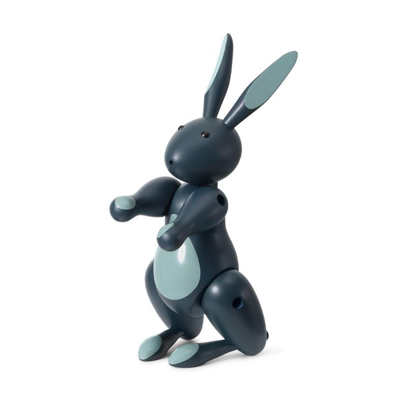 Kay Bojesen(カイ・ボイスン) Rabbit(ラビット)ブルー ウサギ 木製オブジェ デンマーク 39228
