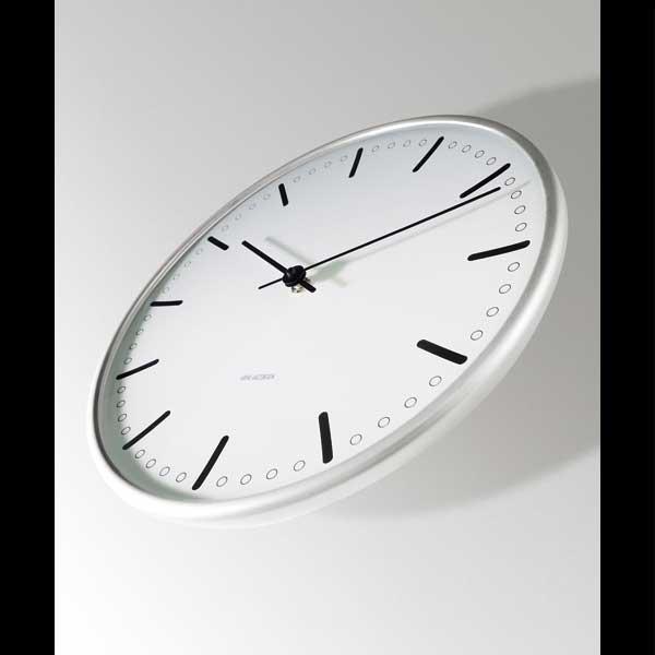 アルネヤコブセン・掛け時計 CityHall シティーホール 16cm ARNE JACOBSEN WallClock ROSENDAHL COPENHAGEN (ローゼンダール社 コペンハーゲン)