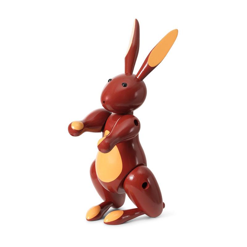 Kay Bojesen(カイ・ボイスン) Rabbit(ラビット)レッド ウサギ 木製オブジェ デンマーク 39229