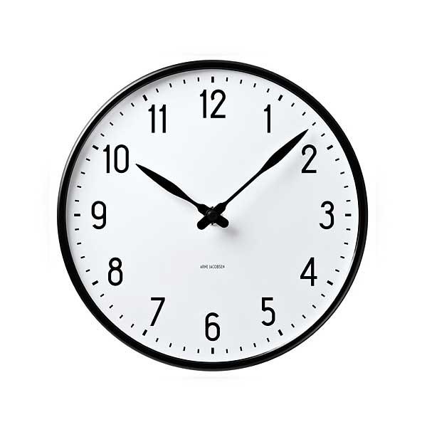 【予約】アルネヤコブセン・掛け時計 STATIONステーション 21cm ARNE JACOBSEN WallClock ROSENDAHL COPENHAGEN (ローゼンダール社 コペンハーゲン)