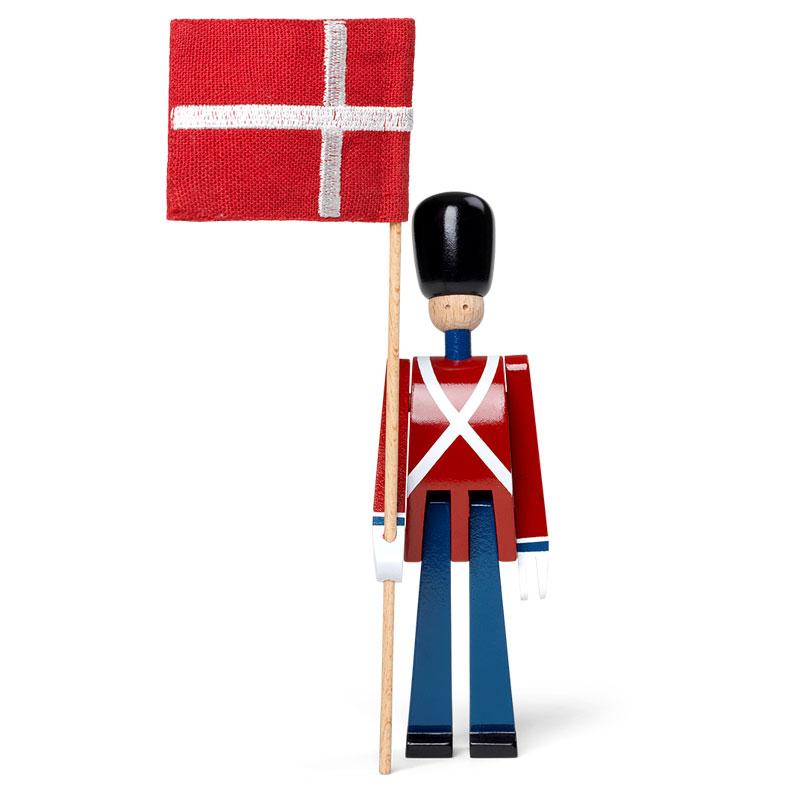 Kay Bojesen(カイ・ボイスン)STANDARD-BEARER 衛兵 ミニ旗持ち 39226 木製オブジェ デンマーク